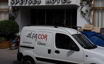 Εργασίες στο ξενοδοχείο Spetses Hotel - όχημα της εταιρίας Alfacor